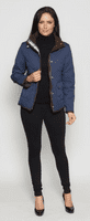 Womens Diamond Quilted Short Navy Jacket db853